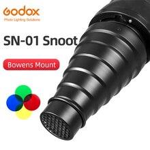 Godox acessórios de iluminação de estúdio de grande snoot de SN 01 bowens, acessórios de iluminação de estúdio profissional adequados para o tipo s de300 sk400 ii