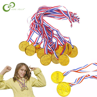 5/10pcs Kids Children Gold Plastic Winners Medals Sports Day Party Bag Prize Awards Toys For Kids Party Fun Photo Props ZXH