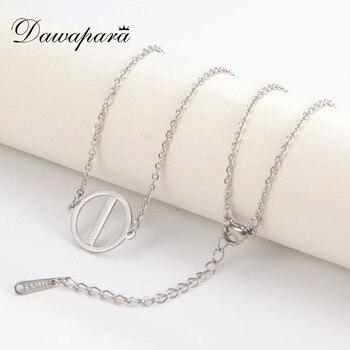 Dawapara-collar de amuleto pequeño Vintage de runas, joyería de acero inoxidable dorada,...