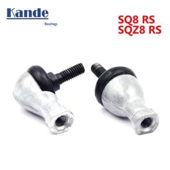 High quality 1 pc Straight rod SQ8RS or curved rod L type SQZ8RS SQ8-RS 8 mm single ball head end joint bearing SQ8 SQZ8 image