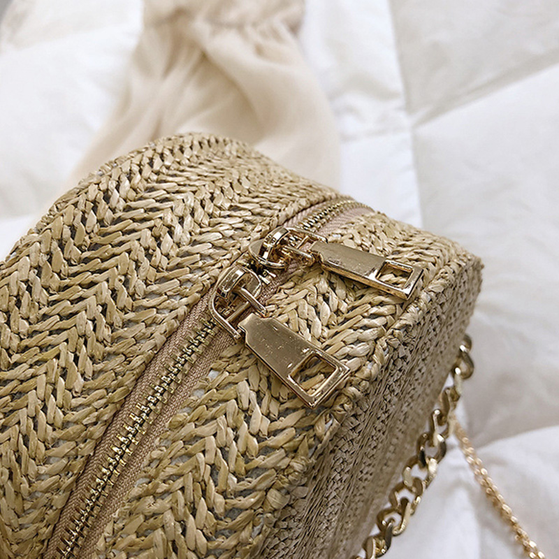 Simple Chain Slant Bag Fashionable Hand woven Pure Color Single Shoulder Small Bag for New Women 39 s Handbags in 2019 in Top Handle Bags from Luggage amp Bags