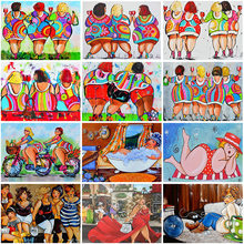 DIY Comics Lady 5D Diamond Painting Full Round/Square Rhinestone Mosaic Romantic Diamante Embroidery Cross Stitch Art Handwork
