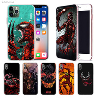 case iphone 5 Carnage Red Venom Case for Apple iphone 11 Pro XS Max XR X 7 8 6 6S Plus 5 5S SE 5C Silicone Luxury Phone Cover Coque Carcasa (1)