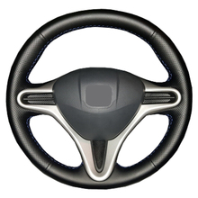 Artificial Leather car steering wheel braid for Honda Civic Old Civic 2006 2011/Custom made auto Steering wheel cover