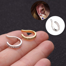 LURUIXU 1pc Adjustable Cz Cartilage Ear Cuff Ear Wrap No Piercing Earcuff