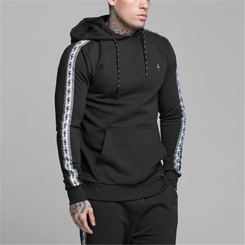 Fathersons Gyms Sweatshirt Fitness Hoodies Mens Casual Cotton Sportswear Autumn New Male Print Pullover Tops Brand Clothes