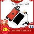 OTMIL شاشة الكريستال السائل ل iPod touch 4 5 6 7 LCD مجموعة المحولات الرقمية لشاشة تعمل بلمس أداة مجانية لاصق ل ipod touch 4 5 6 7 عرض