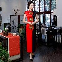 Sexy Slim Large Size 3XL 4XL Satin Lady Chinese Dress Summer New Party Prom Qipao Classic Print Flower Cheongsam Vestidos