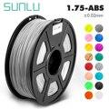 SUNLU ABS черная электрическая 3D прозрачная abs нить 1 75 мм 1кг/рулон для 3d принтера с 1 75 мм abs для детей дизайнерские игрушки