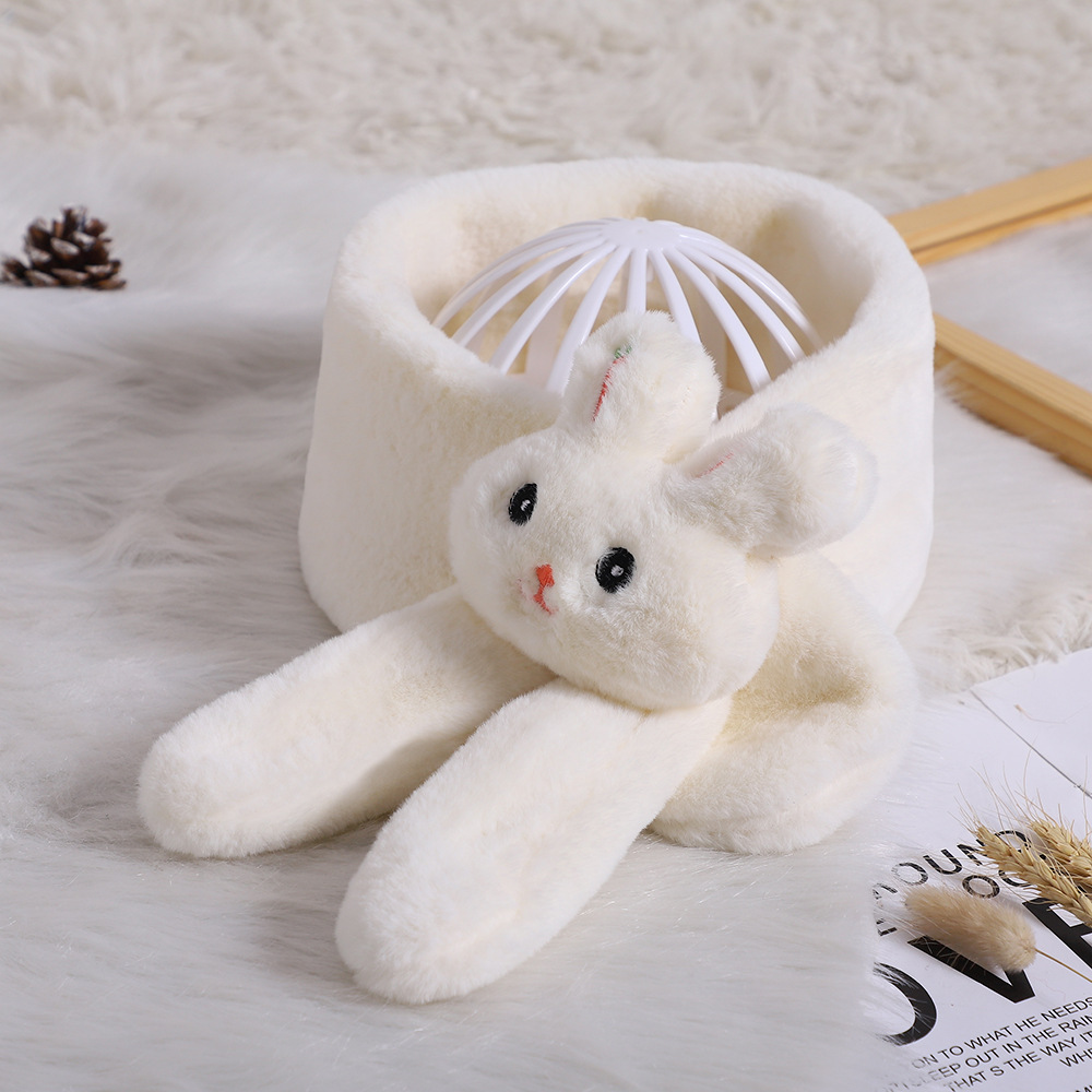 Arrival High Quality Cartoon Cute Children Collar Scarf Baby Girls Winter Warm Imitation Rabbit Fur Scarf Autumn Winter Warmers