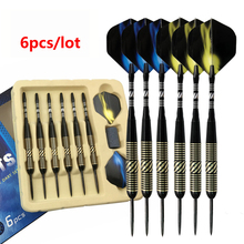21g Professional Steel Tip Darts with Brass Barrel and Aluminum Shaft for Indoor Game Sports 6pcs/set