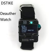 Dstike deauther relógio esp8266 esp placa de desenvolvimento relógio deauther pulseira wi fi deauth