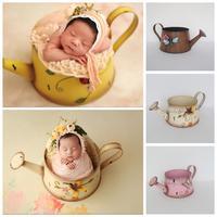 دعائم تصوير لحديثي الولادة دلو مصنوع من الحديد على شكل زهرة للطفل مزود بسلة للتصوير الفوتوغرافي مستلزمات التصوير الفوتوغرافي للأطفال-في القبعات والكابات من الأمهات والأطفال على
