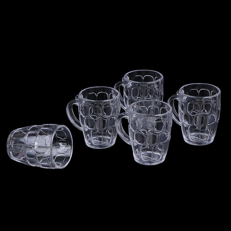 1:12 Scale Resin Transparent Home Glass Model Goblet Miniature Mini Wine Beer Cup Dollhouse  Simulation Furniture Model Toys