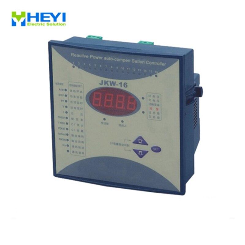 Contrôleur de compensation automatique de puissance réactive JKW16 8 étape 380v contrôleur de compensation de puissance réactive