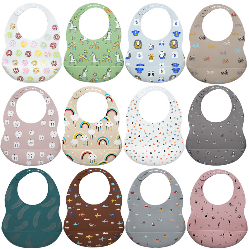 Baby Bibs Aprons Burp-Cloth Feeding Carton Newborn Adjustable New-Printed