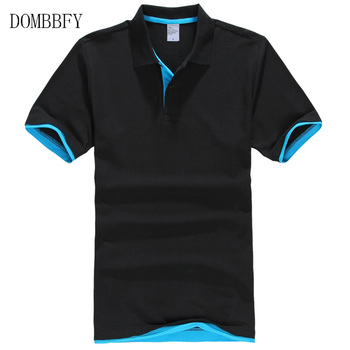 Męskie koszulki Polo bawełniane letnie koszulki Polo z krótkim rękawem markowe koszulki Polo krótkie bluzki męskie Camisa Masculina Blusas topy 3XL tanie i dobre opinie DOMBBFY Szczupła Na co dzień NONE Stałe COTTON Anty-pilling Men polo shirt Plus Size XS S M L XL XXL 3XL Spring Summer Autumn T-Shirt