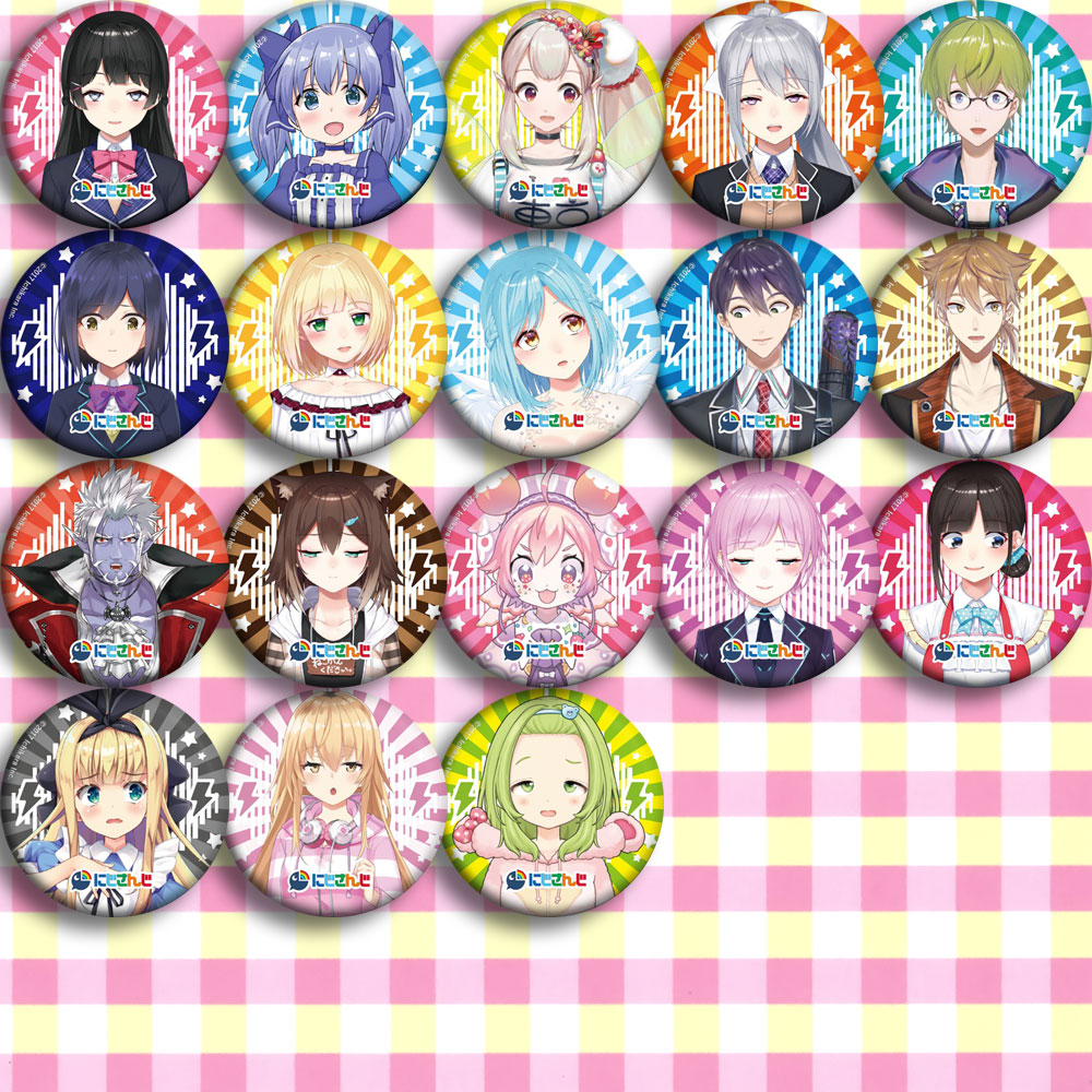 Japan Anime Happy Together Vtuber Cosplay Badge Cartoon Collection Backpacks Badges Bags Button Brooch Pins Gift