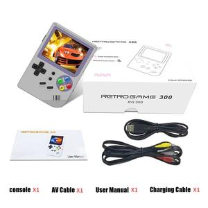 Image 5 - RG300 3 אינץ וידאו משחקים נייד רטרו קונסולת רטרו משחק כף יד קונסולת משחקי נגן 16G + 32G 3000 משחקי טוני מערכת