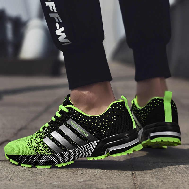 35 46 moda yeni rahat koşu nefes ayakkabı büyük boy spor popüler gündelik erkek ayakkabısı su geçirmez masaj ~ ayakkabı