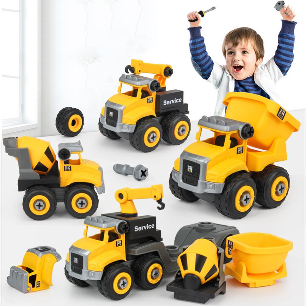 Kids Dump Truck DIY Disassembly Assembly Construction Car With Screwdriver Assembled Educational Toys For Children Kids