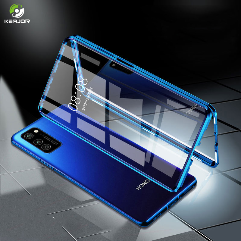 Magnetic Case For Honor View 30 Pro Case Double Side Glass Cover 360° Full Protection Bumper For Huawei Honor V30 Pro 5G Case(China)