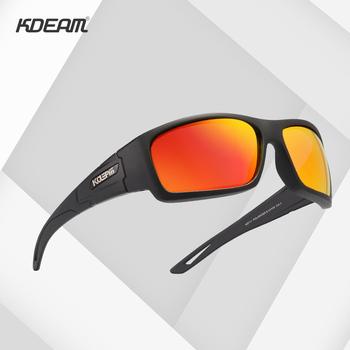 KDEAM Brand New sport spolaryzowane okulary mężczyźni wielowarstwowe powłoki soczewki okulary dla kierowców wędkarstwo odkrywanie UV400 tanie i dobre opinie CN (pochodzenie) Z poliwęglanu Goggle Dla osób dorosłych Z OCTANU polaryzacyjne MIRROR Gradient Przeciwodblaskowe 45mm
