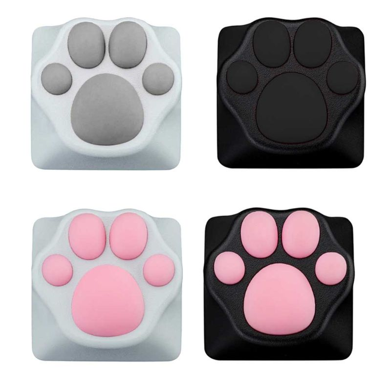 Personality Customized ABS Silicone Kitty Paw Artisan Cat Paws Pad Keyboard KeyCaps For Cherry MX Switches