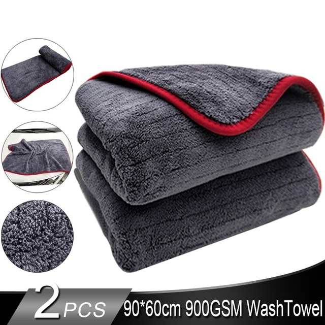 Premium Microfiber 900GSM Car Detailing Super AbsorbentTowel Ultra Soft Edgeless Car Washing Drying Towel 60*90cm