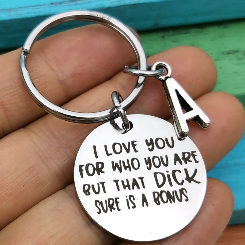 Eu amo você chaveiro engraçado presentes para namorado noivo marido, aniversário aniversário dia dos namorados chaveiro presente
