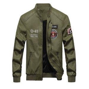Image 2 - Winter Leather Jacket Men Motorcycle PU Leather Jackets 2020 New Mens Casual Fleece Warm Bomber Coat Male Slim Fit Windbreaker