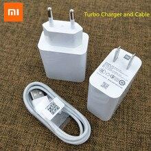 Xiao mi MDY 10 EL qc3.0 carregador rápido 27 w de alta velocidade turbo carregador adaptador da ue para mi 9 9se 9t 8 cc9 vermelho mi k30 nota 7 8 pro k20 pro