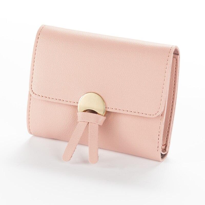 Женские кошельки с индивидуальным ID держатель для карт на молнии с карманом для монет дамские маленькие кошельки женский кошелек Carteira высокое качество - Цвет: Pink Clutch Wallet