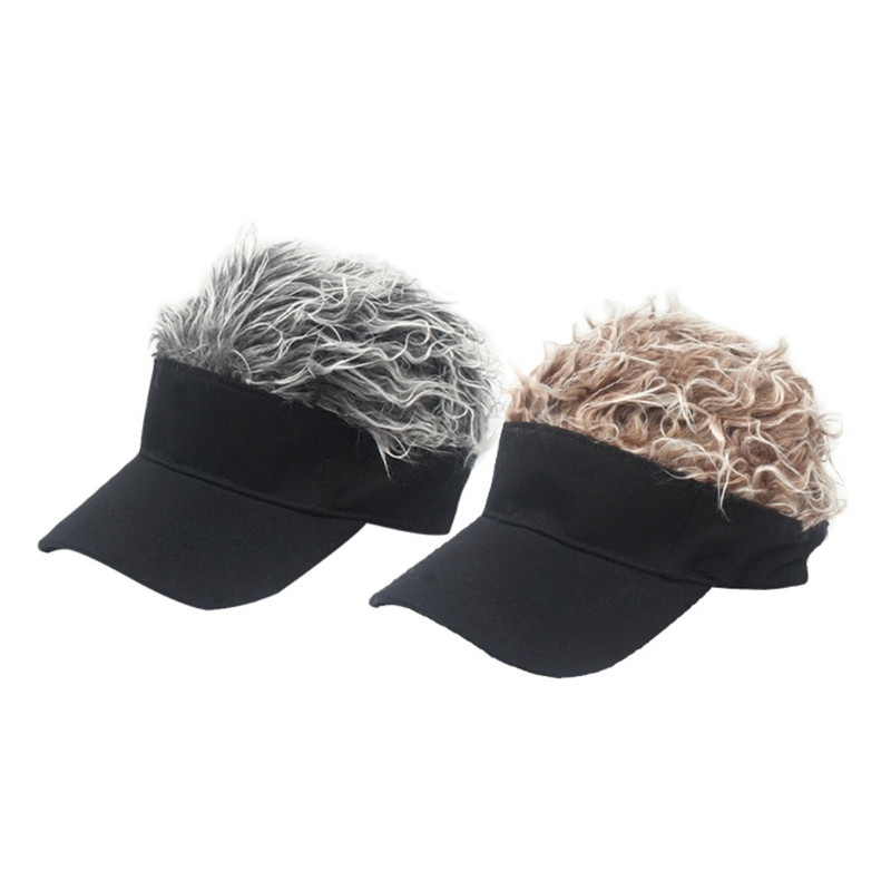 Men Women Golf Cap Baseball Cap Adjustable Breathable Outdoor Sports Camping Hiking Fake Hair Sun Visor Hat