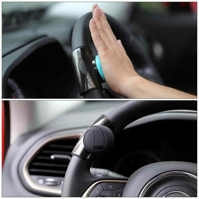 SMKJ Round Ball Gold Buddha Shaped Car Steering Wheel Spinner Knob Handle Powerball Booster Spin Knob Clamp fit for Universal Car