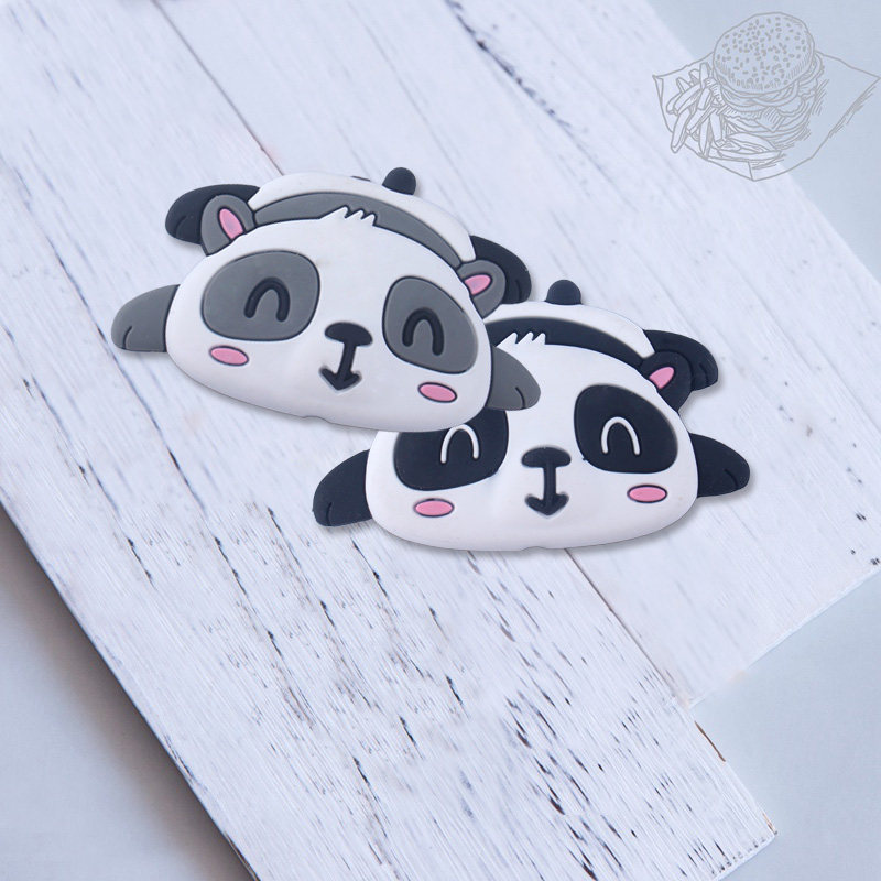 Image 4 - XCQGH 20pcs Silicone Cartoon Animal Panda Shape Teether Silicone Baby Molar Beads Pacifier Chain Accessories Baby TeetherBaby Teethers   -