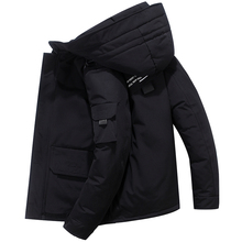 Men #8217 s winter thick overcoat 90 white duck down jacket men brand down jackets 2019 new Fashion Thick Warm Parkas 1908 cheap JUNGLE ZONE Thick (Winter) L1908 REGULAR Casual zipper Full Solid Denim NONE Button Pockets Zippers Polyester Acetate