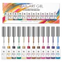 BOZLIN 8ML botella de esmalte de uñas en Gel Kit de empapa Gel LED UV esmalte de uñas Semi permanente platino delineador en Gel de laca de diseño de uñas de arte