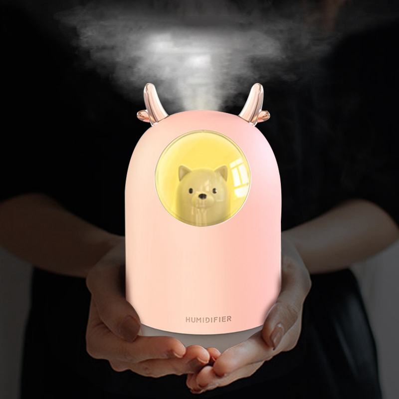 Antler Air  Purifier Humidifier USB Mini Cute Colorful Atmosphere Fogger Mist Maker with LED Night Lamp Gift for Home Car Office|Humidifiers| |  - title=