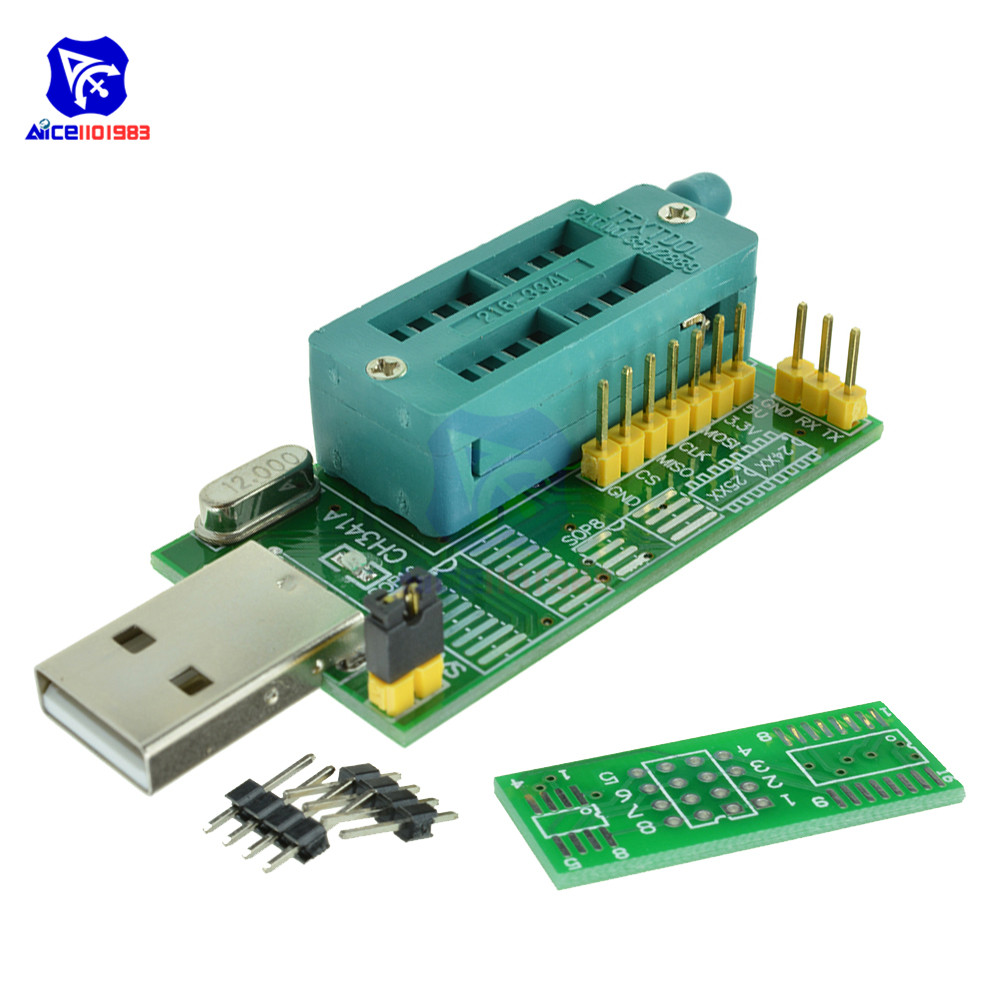 diymore <font><b>USB</b></font> 2.0 to TTL Serial Programmer <font><b>CH341A</b></font> Router Support <font><b>24</b></font> <font><b>EEPROM</b></font> Writer <font><b>25</b></font> SPI Flash BIOS Board Module image