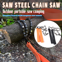 Portable Practical Handheld Survival Chain Saw Emergency Survival ChainSaw Hand ChainSaw Emergency Pocket Gear Chic Camping Tool
