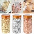 1 flasche Dekorative Gold Blatt Flakes 3g Gold Silber Konfetti DIY Nail art Malerei Material Dekorieren Folie Papier Partei liefert