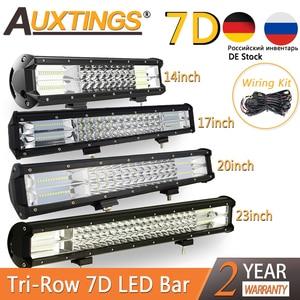 "Image 1 - Auxtings 5 ""14"" 17 ""20"" 23 3 Reihe LED Licht Bar Offroad Led Bar Combo beam Led Work Light Bar für Lkw SUV ATV 4x4 4WD 12v 24V"