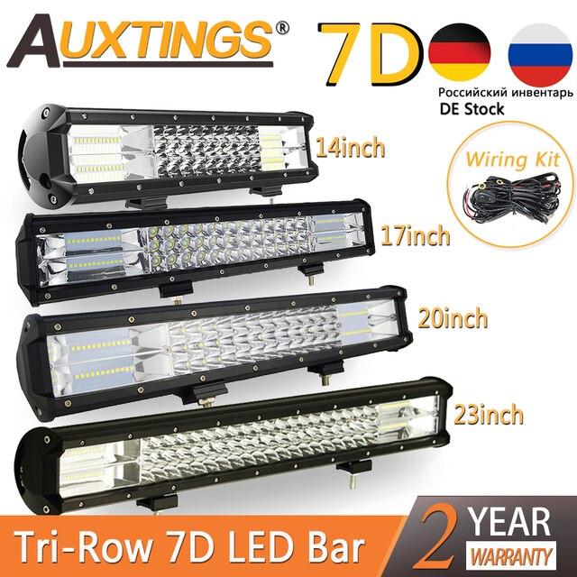 """Auxtings 5 """"14"""" 17 """"20"""" 23 3 Reihe LED Licht Bar Offroad Led Bar Combo beam Led Work Light Bar für Lkw SUV ATV 4x4 4WD 12v 24V"""