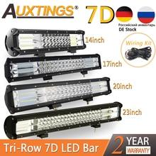 """Auxtings Barra de luz LED de 3 filas, barra de luz Led Offroad de 5 """"14"""" 17 """"20"""" 23 """", barra de luz Led de obra combinada para camión, SUV, ATV, 4x4, 4WD, 12v, 24V"""