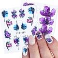 1/2/4 шт украшения цветы наклейки для ногтей водяные знаки Цветочные линии листа черные наклейки для ногтей цветные слайдеры BESTZ880-902