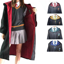 Potter Cosplay Robe Cape Cloak With Tie Scarf Wand Glasses Ravenclaw Gryffindor Hufflepuff Slytherin Costume For Kids Adult