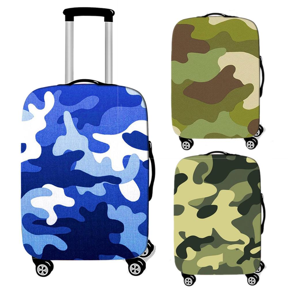 Travel Accessories Camouflage Luggage Case Protective Cover Waterproof Thicken Elastic Men Suitcase Trunk Case 18-32 Inch XL