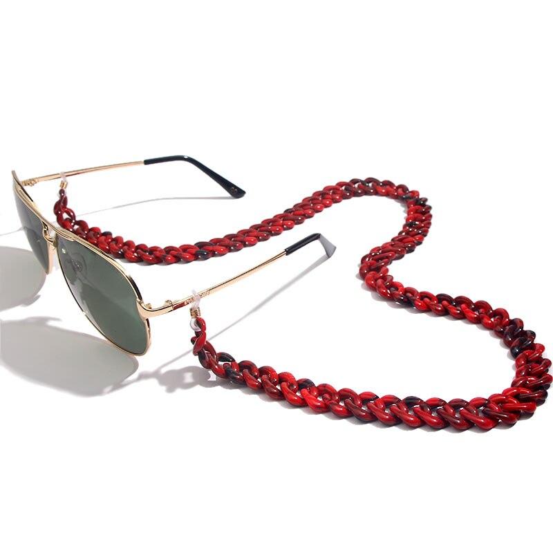 Flatfoosie модная акриловая цепочка для солнцезащитных очков цепочка для очков для чтения подвесной держатель для шеи ремешки с петлей аксессуары для очков 68 см - Цвет: 05RD