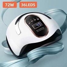 Nail-Dryer Curing-Lamp 36led-Lights Uv-Gel-Polish Smart-Sensor Fast-Drying Timer Big